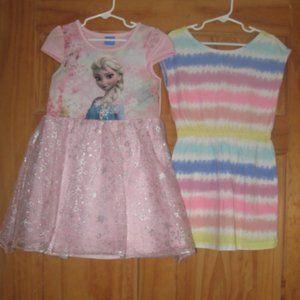 Girls Disney Elsa/Gap Kids Striped Dress Bundle